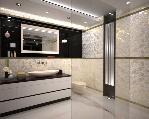 guide for decorating trendy art deco bathroom design bathroom decor designs pictures trendy