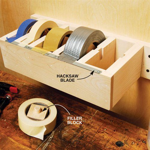 Totally ingenious organization hacks that surely will amaze you diy jumbo tape dispenser solutioingenieria Images