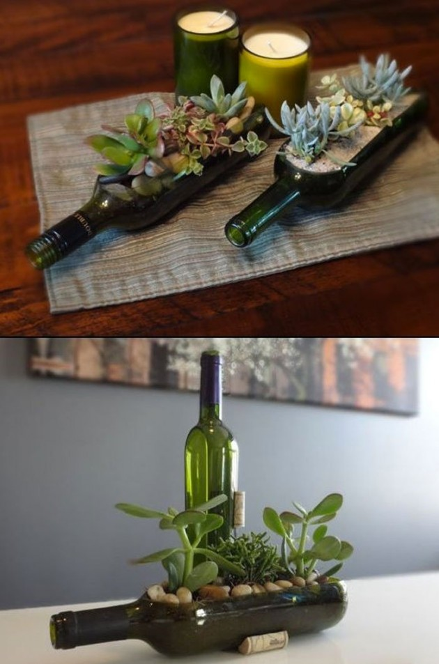 17 Super Awesome DIY Crafts Made From Wine Bottles