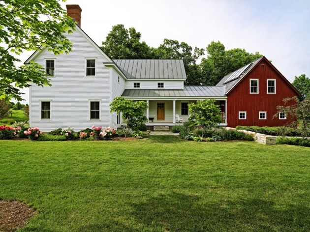15 aesthetic farmhouse exterior designs showing the luxury for Farm house landscaping