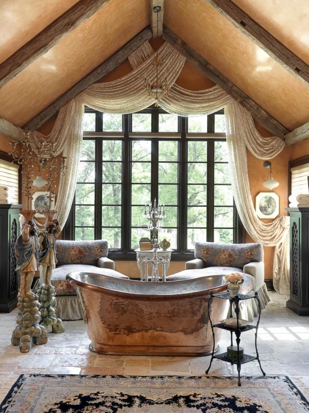 15 Glamorous Mediterranean Bathroom Designs That Will Make