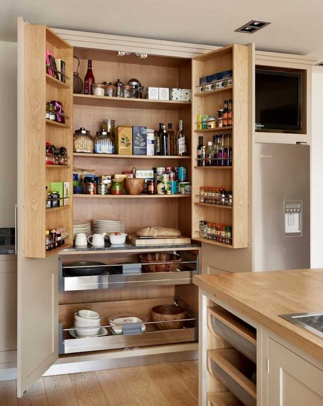 15 Handy Kitchen Pantry Designs With A