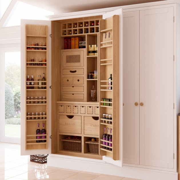 15 Handy Kitchen Pantry Designs With A Lot Of Storage Room Interior Design