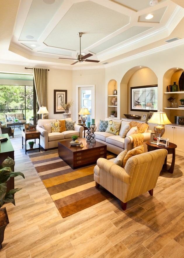 15 homely traditional living room designs to help you for Traditional living room designs