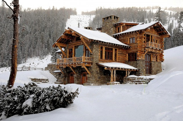 15 snug rustic home exterior designs for the cold winter days - Exterior painting in cold weather ...