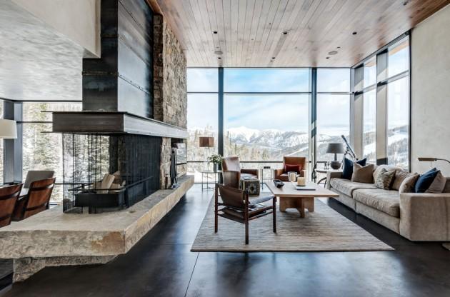15 Warm & Cozy Rustic Living Room Designs For A Cozy Winter