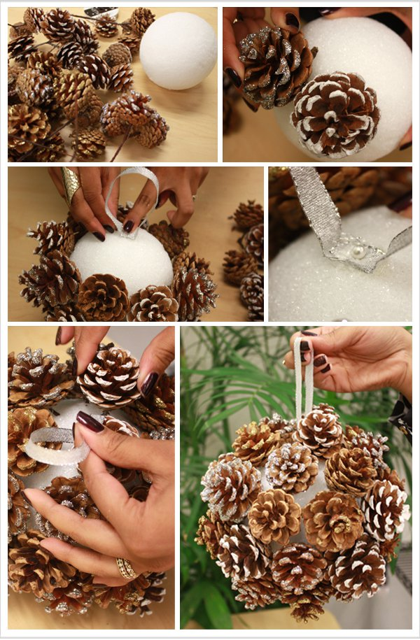 18 the most cheapest astonishing diy pine cones christmas decorations - Homemade Pine Cone Christmas Decorations