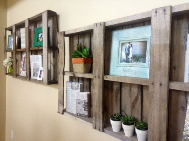Creative & Useful: 20 Extremely Genius DIY Pallet Storage Design Ideas