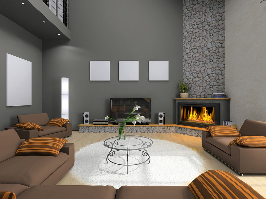 17 ravishing living room designs with corner fireplace Home decorating ideas living room with fireplace