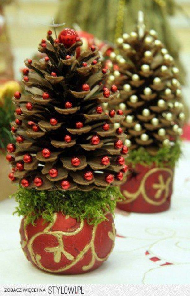 18 the most cheapest astonishing diy pine cones christmas decorations - Pine Cone Christmas Tree Decorations