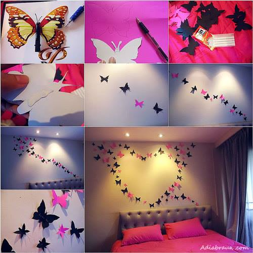 16 awesome and easy diy wall decorating ideas - Diy Wall Decor For Bedroom
