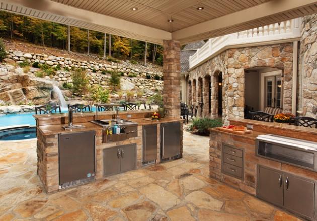 14 Fascinating Outdoor Luxury Kitchen Design Ideas