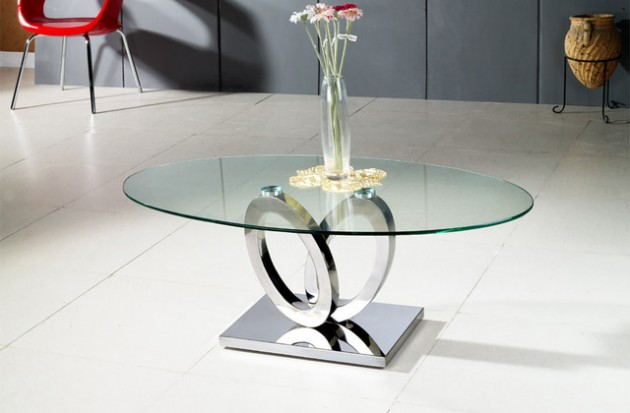 Glass Coffee Table  Beautiful Addition to Any Contemporary Home