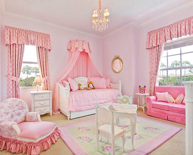 14 fantastic ideas how to decorate fairy tale girls room - Entrancing girl bedroom decoration with various stripping in girl room ...