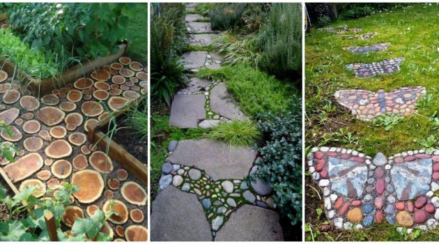 12 Beautiful DIY Garden Walkway Designs