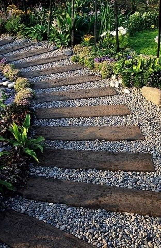 12 beautiful diy garden walkway designs for Garden path designs