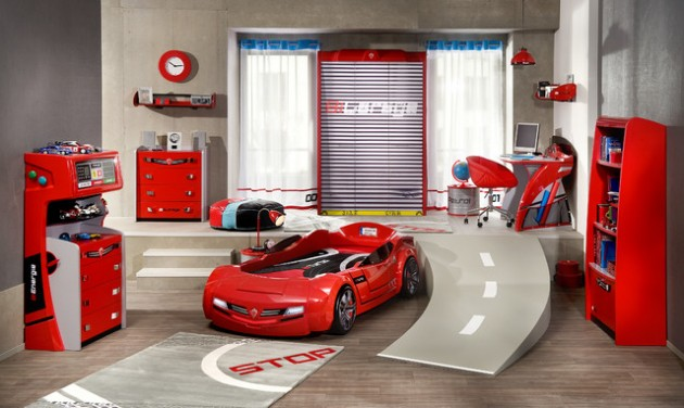 15 Super Cool Car Themed Childs Bedroom Designs