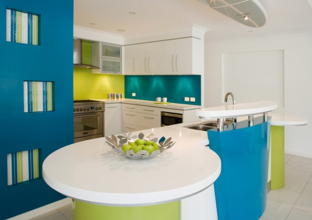 17 Delightful Kitchen Ideas With Curved Island Design