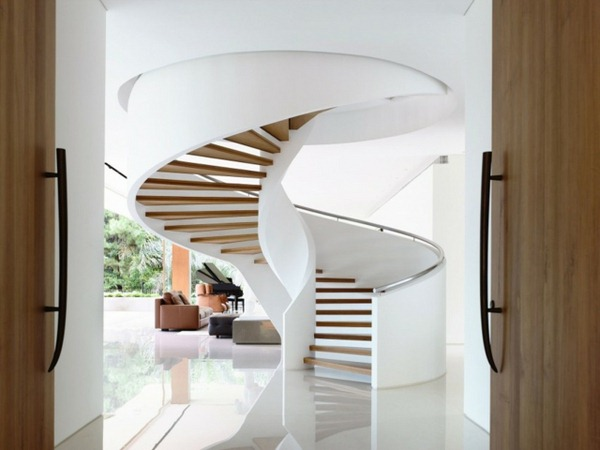 16 Elegant Modern Spiral Stairs Design Ideas That Will Fit Every
