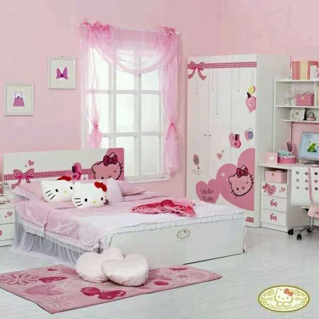 15 lovely hello kitty room designs for your little princess - Decoration hello kitty chambre bebe ...