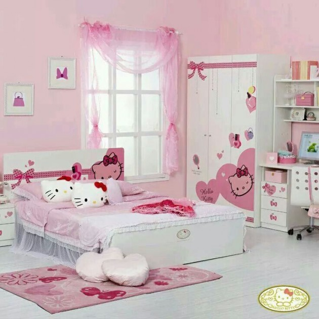 15 lovely hello kitty room designs for your little princess - Chambre enfant fille hello kitty ...