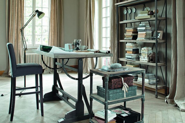14 Fancy Industrial Home Office Designs