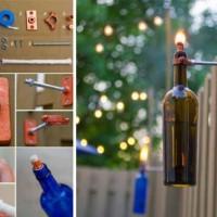 19 Inexpensive & Creative DIY Wine Bottle Lighting Ideas