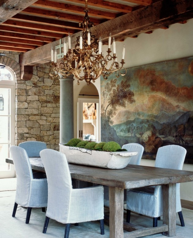 Simple White Themed Dining Room Design Ideas: 15 Elegant Rustic Dining Room Interior Designs For The