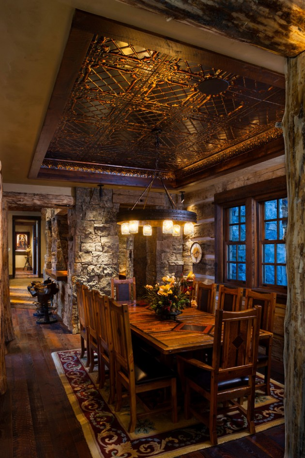 15 Elegant Rustic Dining Room Interior Designs For The ...