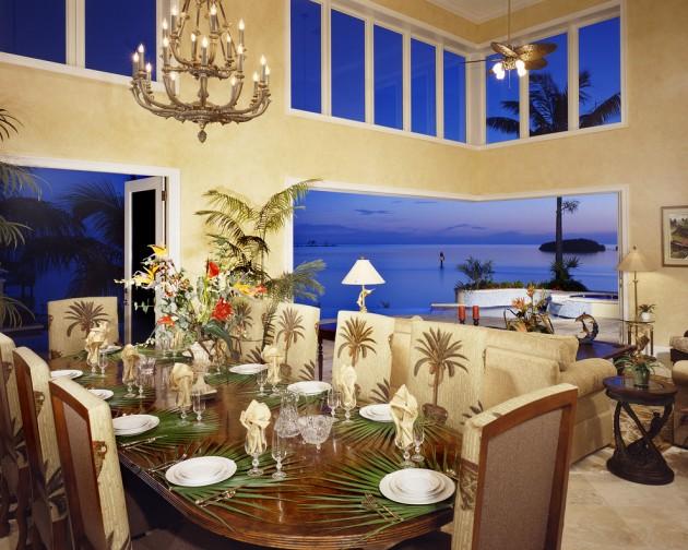 Coastal Mid Century Modern Living Room