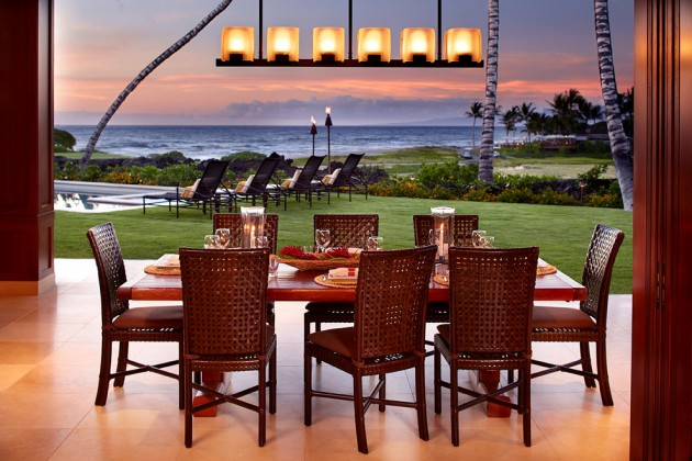 exotic tropical dining room designs to enjoy the view while eating table sets furniture set