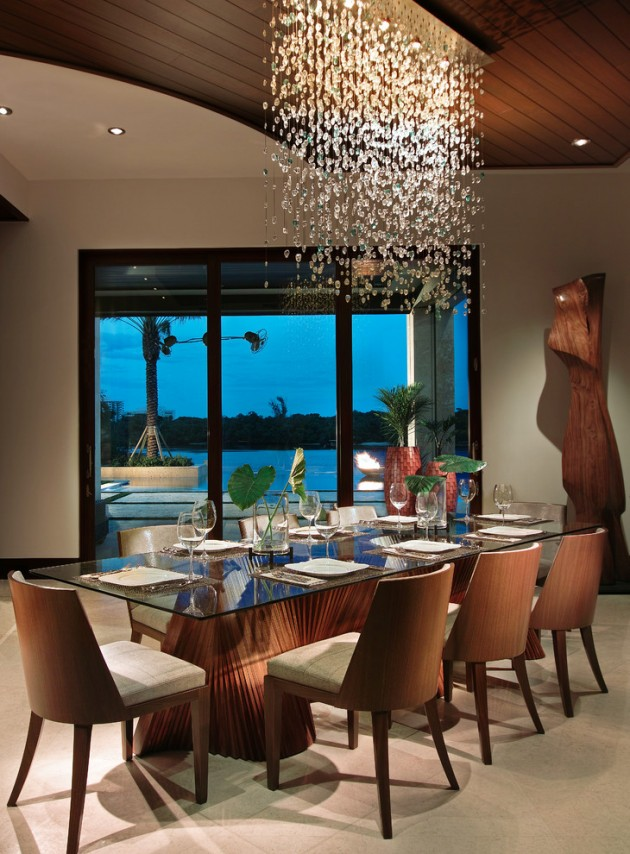 15 exotic tropical dining room designs to enjoy the view for Tropical dining room ideas