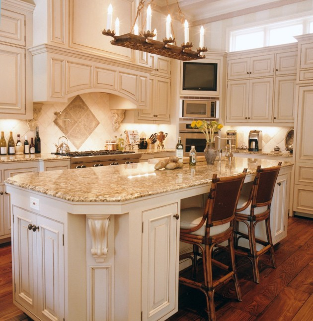 Home Bar Counter: 15 Exquisite Mediterranean Kitchen Interior Designs For