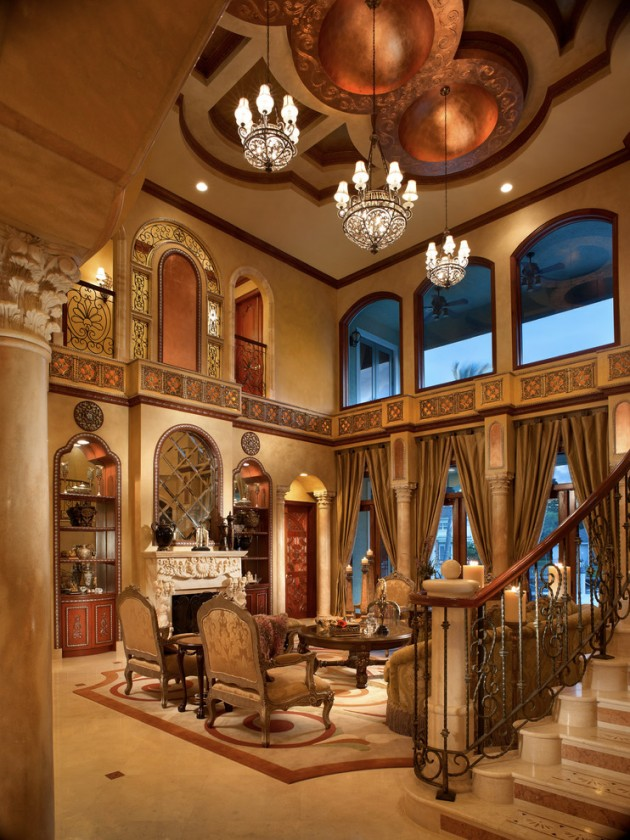 15 extravagant mediterranean living room designs that will for Mediterranean living room design