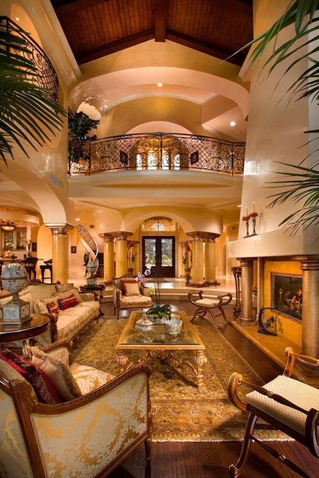 Designer Home Interiors: 15 Extravagant Mediterranean Living Room Designs That Will