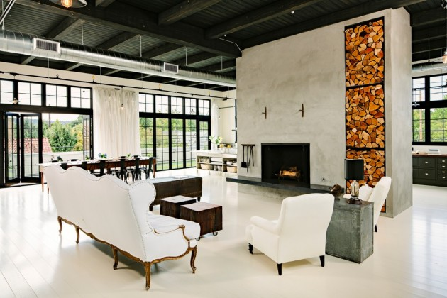 Fascinating Industrial Living Room Designs That Turn Warehouses ...