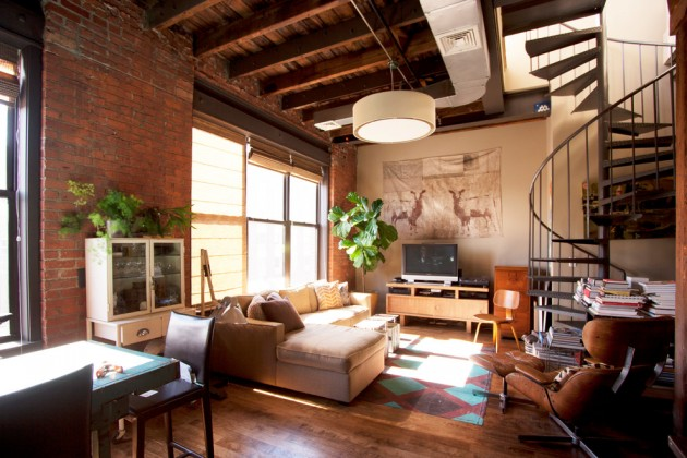 15 fascinating industrial living room designs that turn - Warehouse turned into home ...