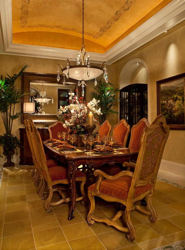 15 Magnificent Mediterranean Dining Room Designs Made Of ...
