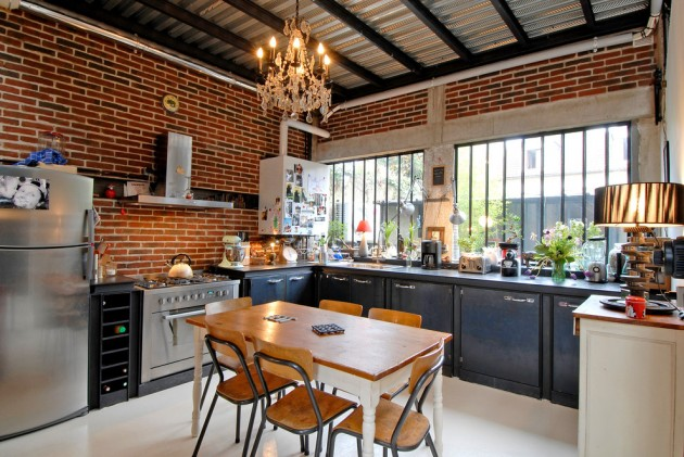 15 Memorable Industrial Kitchen Designs You\'re Going To Like