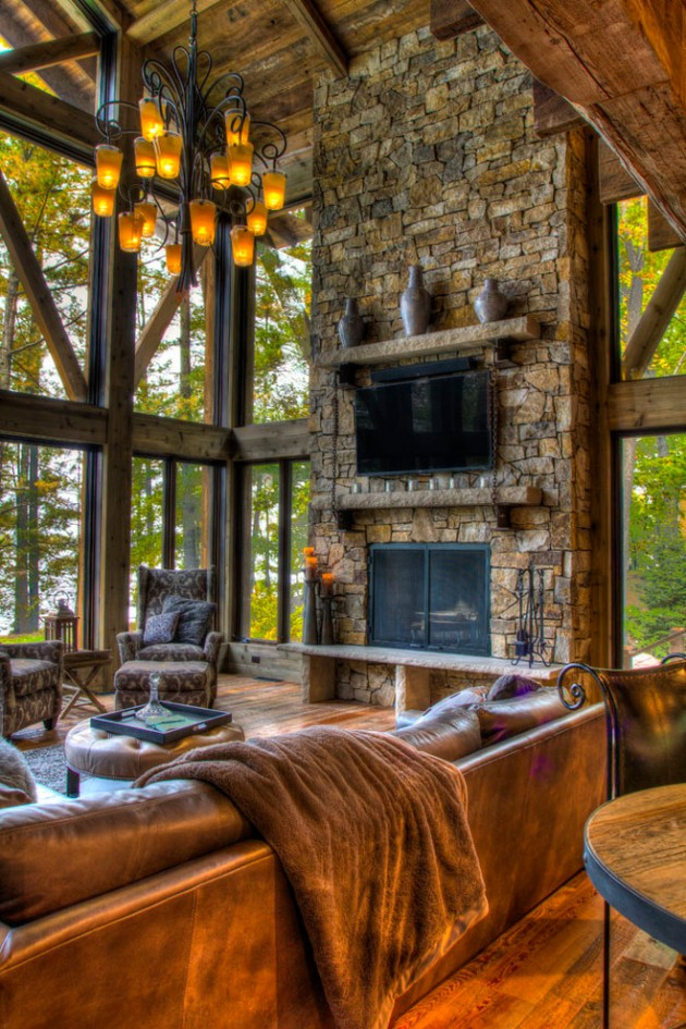 20 cozy rustic living room designs to ensure your comfort for Comfort room interior designs