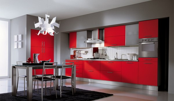 10 Dramatic Colorful Kitchen Design Ideas