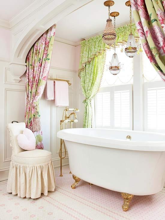 19 Lovely Feminine Glam Bathroom Design Ideas