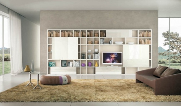fascinating modern living room shelves for any contemporary home