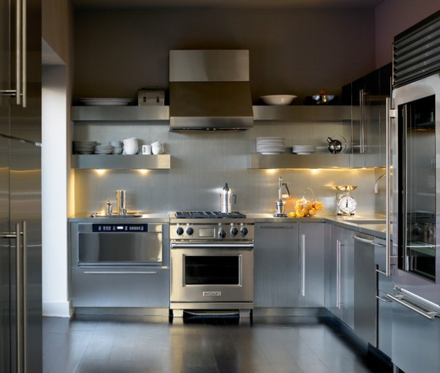 Modern Office Interior Design: 18 Beautiful Stainless Steel Kitchen Design Ideas