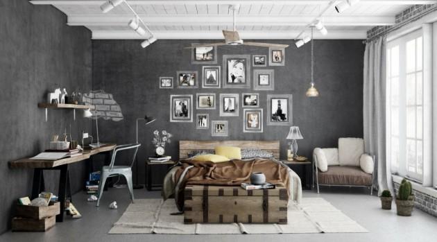 14 Fancy Industrial Home Office Designs