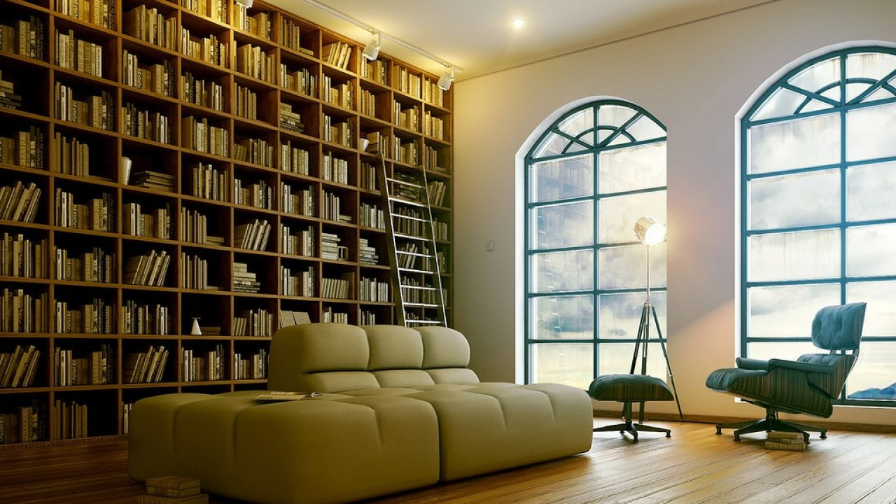 Functional Modern Home Library Designs
