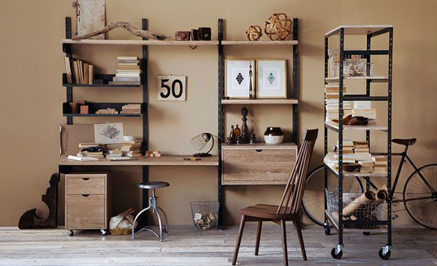 Fancy Industrial Home Office Designs