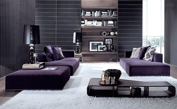 15 Dramatic Dark Living Room Design Ideas