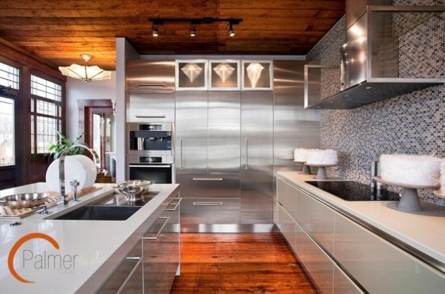 18 Beautiful Stainless Steel Kitchen Design Ideas