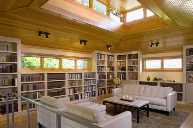 17 Functional Modern Home Library Designs For All Book Lovers